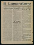 Il lavoratore. Organo delle federazioni venete del Partito comunista d'Italia