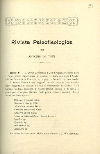Rivista paleoficologica