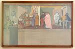 Dipinto - Bozzetto per l'affresco con la disputa sull'immortalità dell'anima