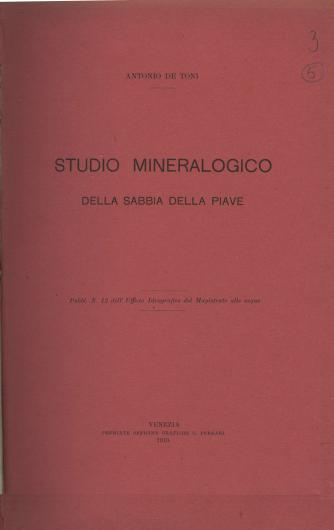 Studio mineralogico della sabbia della Piave