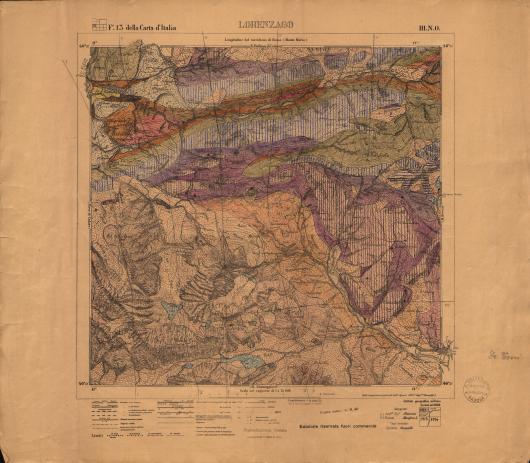 Rilevamento geologico di Lorenzago