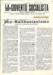 """Neo-malthusianismo. In """"La Gioventù Socialista"""", IX, 40-1 (1-15 Settembre) 1911"""