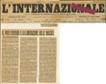 """Il proletariato e la limitazione delle nascite. In """"L'internazionale"""", II, 103 (12 aprile) 1913"""