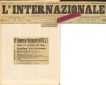 """Neo malthusianismo e organizzazione operaia. In """"L'internazionale"""", III, 135 (22 novembre) 1913"""