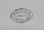 Timbro del libraio Angelo Delai