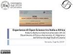 Esperienze di Open Science tra Italia e Africa. Roberto Barbera