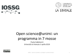 Open Science@Unimi. Un programma in 7 mosse. Paola Galimberti