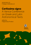 Certissima signa. A Venice Conference on Greek and Latin Astronomical Texts