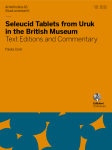 Seleucid Tablets from Uruk in the British Museum. Text Editions and Commentary