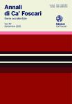 Annali di Ca' Foscari. Serie occidentale. Vol. 50  –  Settembre 2016