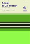 Annali di Ca' Foscari. Serie orientale. Vol. 50 – Supplemento 2014