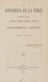 La botanique de la Bible. Etude scientifique, historique, litteraire et exegetique des plantes mentionnees dans la Sainte-Ecriture [tavole]