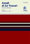 Annali di Ca' Foscari. Serie occidentale. Vol. 53 – Supplemento 2019. Progetti per l'Umanità. Rivoluzioni, Utopie e Ingegneria Sociale