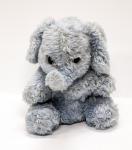 Elefantino giocattolo. Campione preposto a prove tecniche di resistenza delle fibre al fuoco