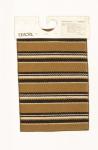 """Campione denominato """"Pattern"""" o """"Testane in filato Leacril®. Tessuto Navetta, motivo a righe"""