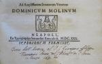 Nota di dono di Giovanni Camillo Glorioso a Giacomo Filippo Tomasini