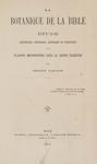La Botanique de la Bible