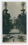 Padova, R. Orto botanico. Ingresso a Sud nel recinto centrale