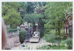 Ricollocazione degli acroteri dell'ingresso nord. Orto botanico di Padova