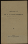 Opuscolo: Commemorazione del m. e. Enrico Bernardi, emerito della R. università di Padova. adunanza ordinaria del Reale istituto veneto di scienze, lettere ed arti del 22 febbraio 1920