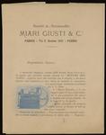 Opuscolo: Società in accomandita Miari Giusti & C.i
