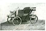 Fotografia della vetturetta a quattro ruote