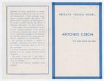 Ricordo funebre di Antonio Ceron - recto