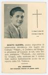 Ricordo funebre di Benito Guerra