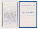 Ricordo funebre di Brunello Rutoli - recto
