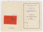 Carta d'identità di Giacomo Chilesotti - recto