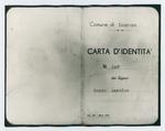 Carta d'identità di Renato del Din sotto falso nome - recto