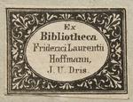 Ex libris di Friedrich Lorenz Hoffmann (1790–1871)