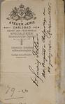 Friedrich Teller - verso