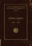 Annuario del R. Istituto Superiore di Scienze Economiche e Commerciali di Venezia per l'anno accademico 1931-1932. LXIV dalla fondazione