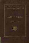Annuario del R. Istituto Superiore di Scienze Economiche e Commerciali di Venezia per l'anno accademico 1934-1935. LXVII dalla fondazione