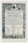 Pergamena ricordo offerta a Romolo Pellizzari. Montebelluna