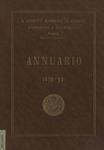 Annuario del R. Istituto Superiore di Economia e Commercio di Venezia per l'anno accademico 1938-1939. LXXI dalla fondazione