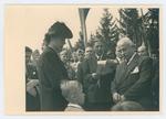 Cerimonia della consegna della medaglia d'oro alla memoria di Giovanni Carli. La vedova e il figlio di Carli, l'onorevole Cimenti e il ministro Cingolani
