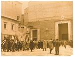 Cerimonia della traslazione dei resti delle vittime delle incursioni aeree a Padova