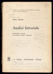 Analisi fattoriale. Introduzione al metodo per psicologi, sociologi e pedagogisti