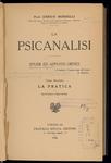 La psicanalisi, di Enrico Morselli. Tomo 2:  La pratica