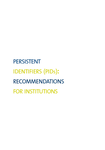 Persistent identifiers (PIDs): recommendation for institutions