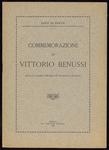 Commemorazione di Vittorio Benussi, di S. De Sanctis . letta il 12 marzo 1928 nella R. Università di Padova