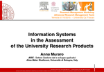 Information Systems in the Assessment of the University Research Products. User Case II