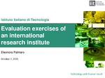 Evaluation Exercises of an International Research Institute. User Case IV