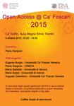 Open Access @ Ca' Foscari 2015