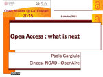 Open Access : what is next