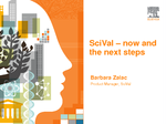 SciVal – now and the next steps