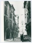 Via San Clemente (Padova) dopo un bombardamento