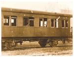 Borgomagno (Padova). Vagone ferroviario  dopo un mitragliamento aereo